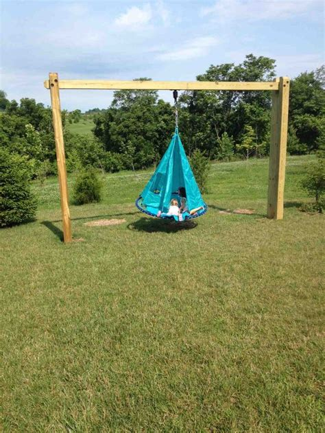 how to make a tire swing without a tree even without trees now our kids can swing used a
