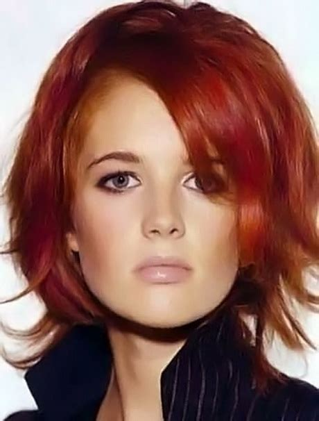 red hairstyles images red medium hairstyles