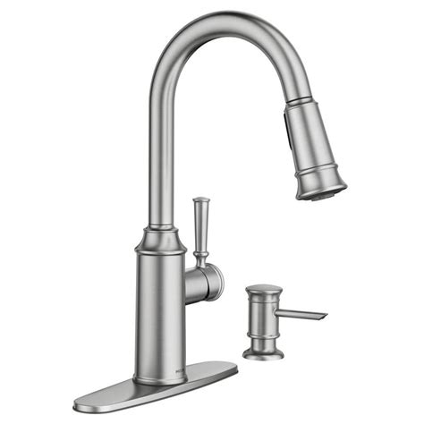 moen pull down kitchen faucet moen glenshire single handle pull down sprayer kitchen