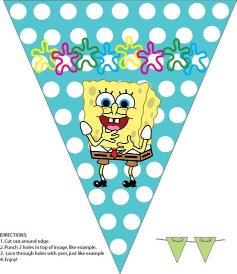free printable spongebob happy birthday banner 23 best bob esponja images on pinterest spongebob