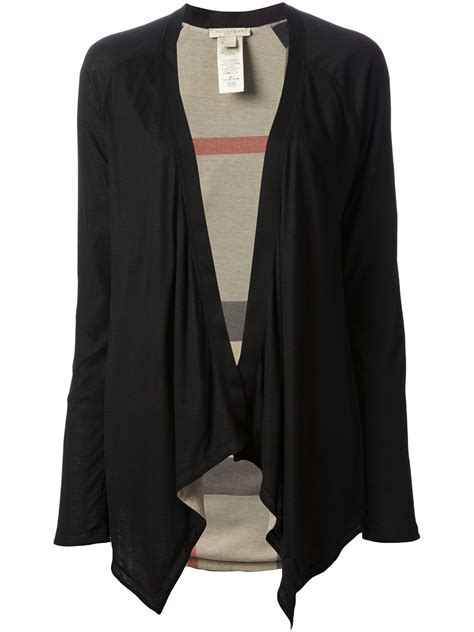 draped cardigans lyst burberry brit draped cardigan in black