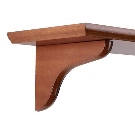 wood brackets for shelves knape vogt 4 75 in x 7 in honey wood corbel decorative shelf 0138 7hny the home depot