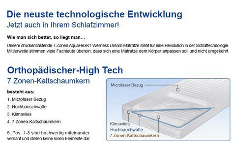 Preiswerte Matratzen 140x200 by 7 Zonen Aquaflex K1 Matratzen 140 X 200