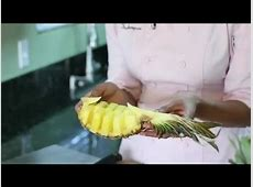 How to Cut a Pineapple Boat : Fruit Cutting Tips - YouTube How To Cut A Pineapple Boat