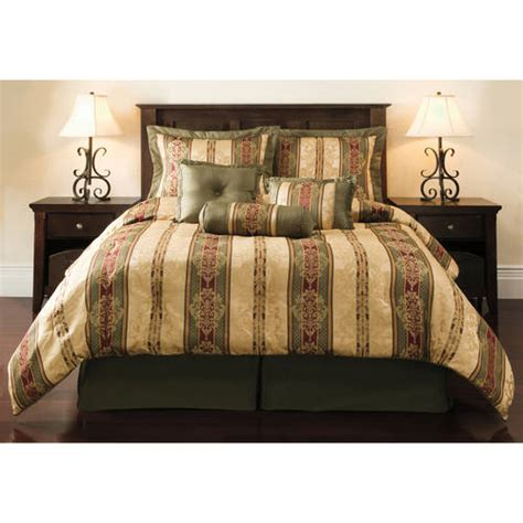 walmart bed sets king mainstays 7 piece comforter set walmart com