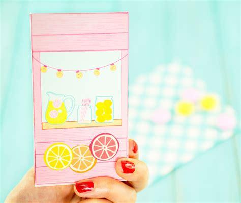 diy printable lemonade stand favor box