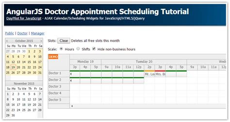 tutorial java angularjs angularjs doctor appointment scheduling tutorial php