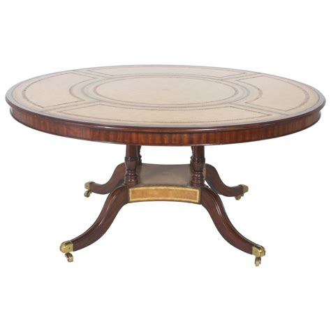 Leather Dining Table Maitland Smith Leather Top Table For Sale At 1stdibs