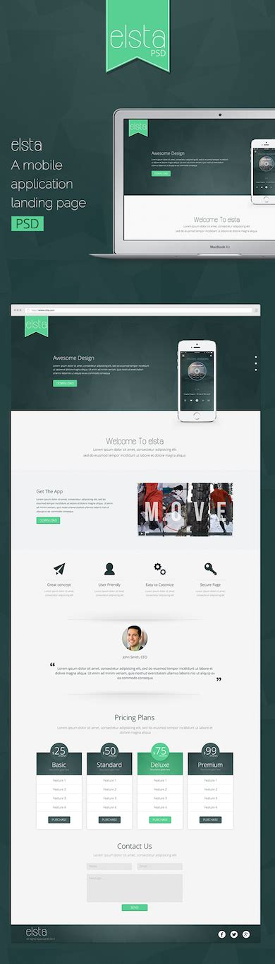 40 latest free website psd templates neo design