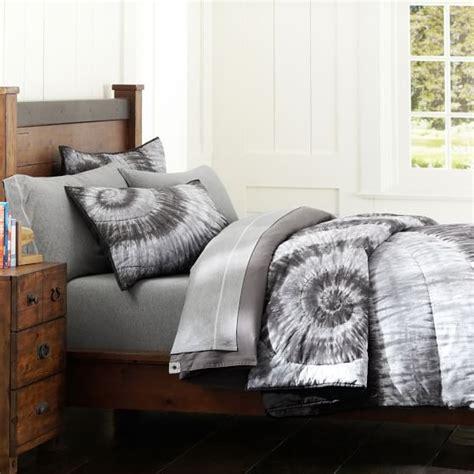 tie dye bed comforter dunes tie dye quilt sham gray pbteen