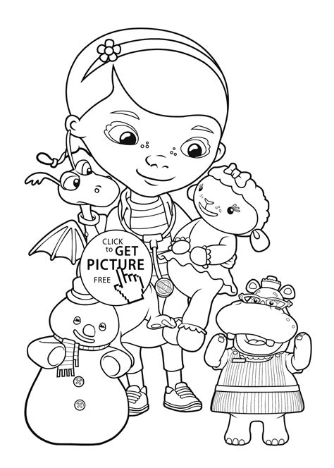coloring page for kids doc mcstuffins friends coloring pages for kids printable