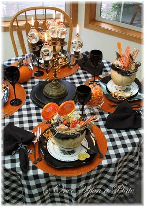fall table setting party idea southern blue celebrations halloween party table ideas