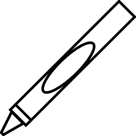 Black And White Crayon Clipart crayon clip at clker vector clip royalty free domain