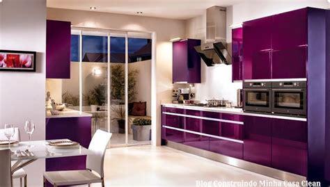 Purple Kitchen Wallpaper by Construindo Minha Casa Clean 12 Cozinhas De Luxo Modernas
