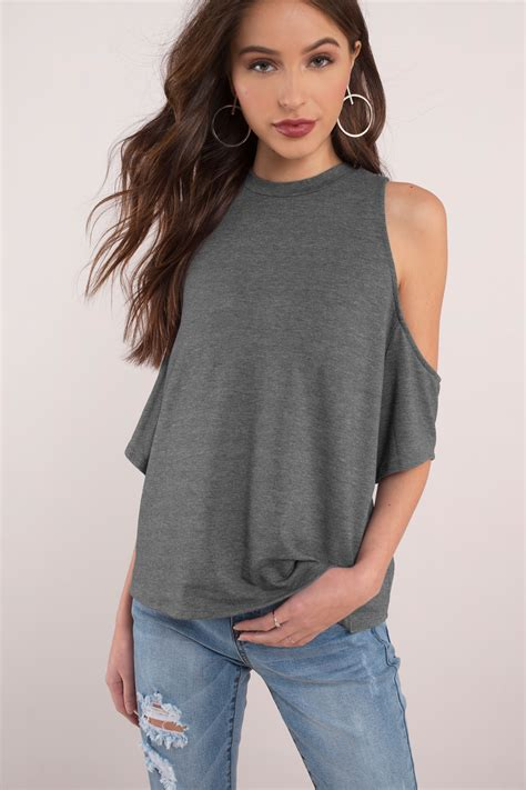 best grey grey blouse cold shoulder blouse 38 00