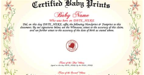 baby prints download and print a unique certified baby