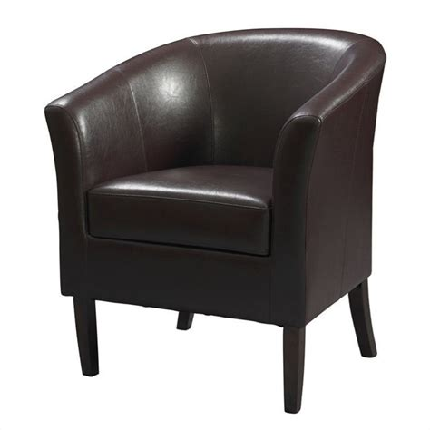 faux leather club chair faux leather club barrel chair in blackberry 36077ber 01