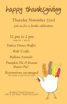 Traditional Thanksgiving Dinner Restaurants