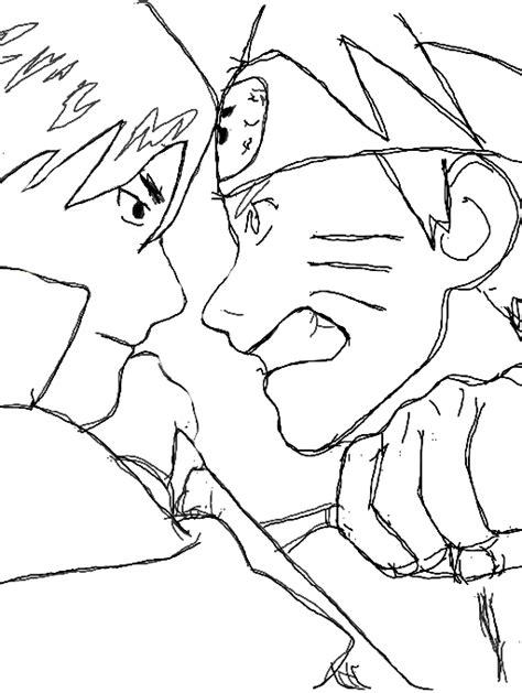 naruto vs sasuke coloring page