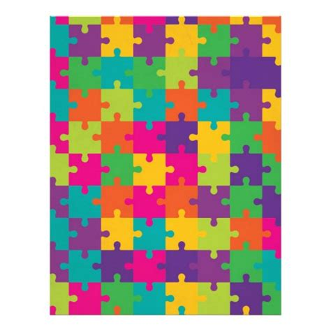 inkjet printable jigsaw puzzles colorful jigsaw puzzle pattern letterhead zazzle