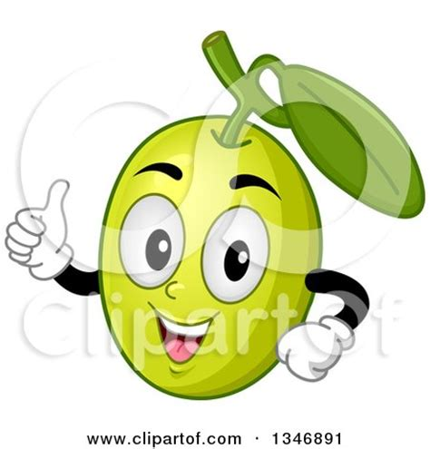 olives clipart clipart of a cartoon green olive mascot giving a thumb up