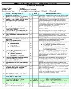 contract risk assessment template best photos of risk assessment worksheet risk assessment