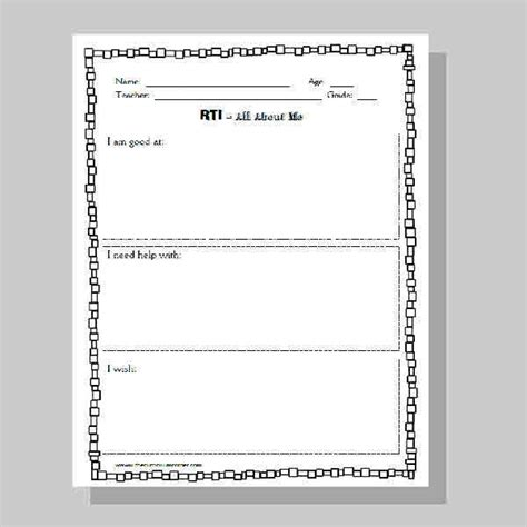 Student Data Binder Printables The Curriculum Corner 123 Middle School Student Data Notebooks Templates