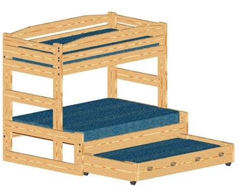 trundle bed plans woodworking wood bunk bed with trundle woodworking