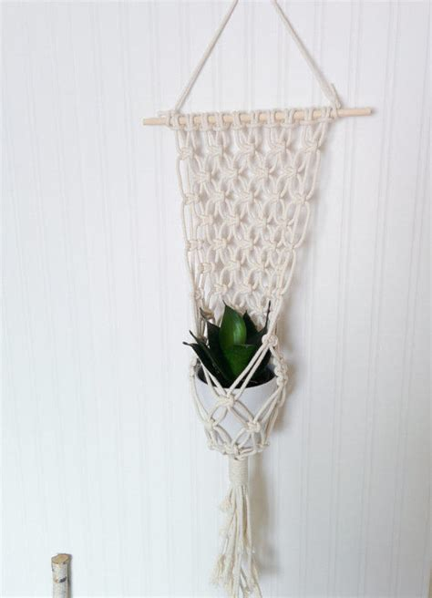 Macrame Hanging Plants - macrame plant hanger from freefille on etsy things i want as