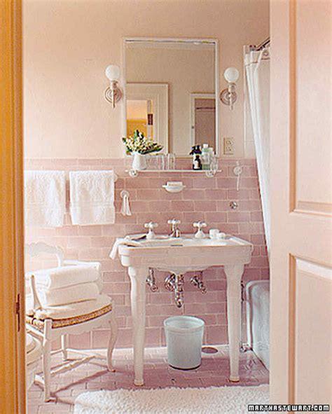 pink tile bathroom makeover