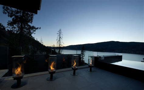 Exceptional Hillside Home Overlooking Okanagan Lake Canada Landscape Lighting Canada