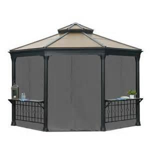 Sunjoy Gazebo Privacy Curtains by Sunjoy Universal Curtain For Octagonal Gazebo At Garden