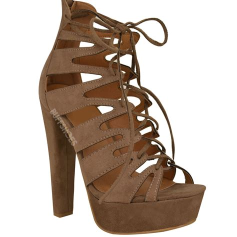 lace up high heel sandals new womens high heel platform gladiator sandals