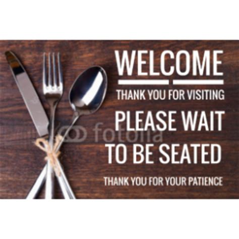 wait to be seated sign plastic yard signs signsite