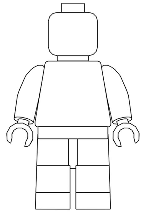 lego figure template minifigure stencil flickr photo
