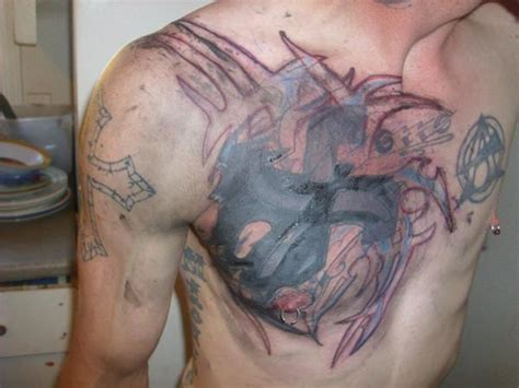 chest cover up tattoos for men 55 cover up tattoos impressive before after photos
