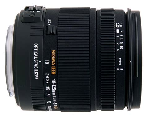 Specs Sigma sigma 18 125mm f 3 8 5 6 dc os hsm specifications and