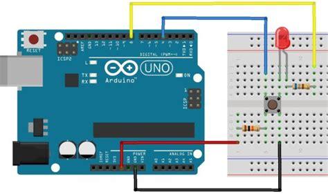 resistor for arduino uno using push button switch with arduino uno use arduino for projects