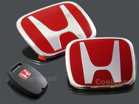 Emblem Honda 11 jdm h front rear emblem key cover combo 06 11