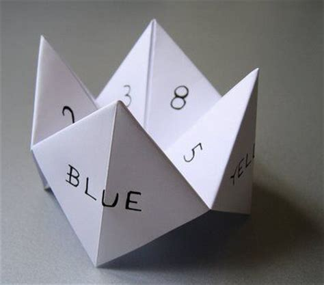 25 best ideas about paper fortune teller on