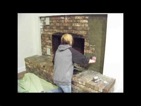 Covering Up A Fireplace chic on the cheap fireplace makeover youtube