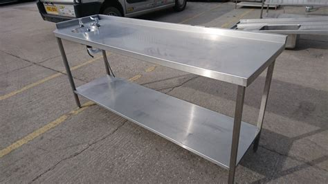 used stainless steel table with sink for sale secondhand catering equipment wash sink used