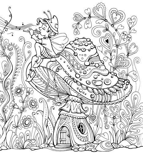 garden party coloring page fairy land coloring book kraina basni coloring books