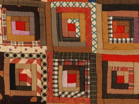 Cabin Raising Quilt by Quot Log Cabin Barn Raising Quot Pieced Quilt At 1stdibs