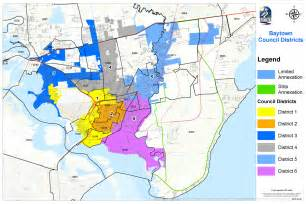 bay town map baytown tx council members