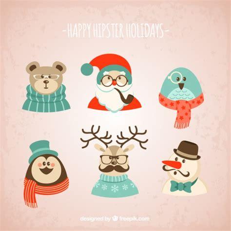 imagenes navideñas retro personajes h 237 pster de navidad descargar vectores gratis