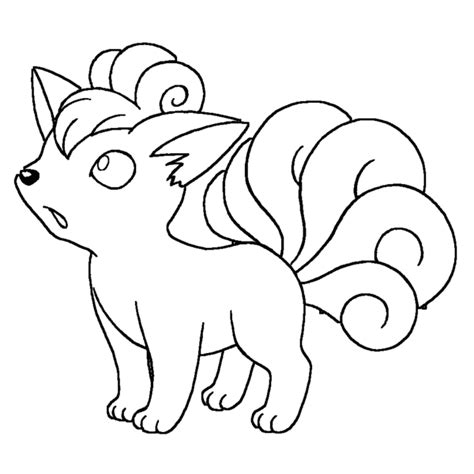 Pokemon Coloring Pages Of Vulpix | pokemon vulpix coloring pages images pokemon images