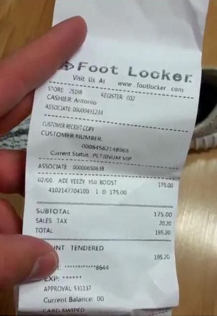 Foot Locker Receipt Template by Bought A Counterfeit Item The Ebay Community