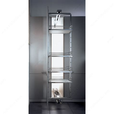 chrome and gray basket sliding system for base cabinets dispensa swing kit with grey and chrome arena baskets