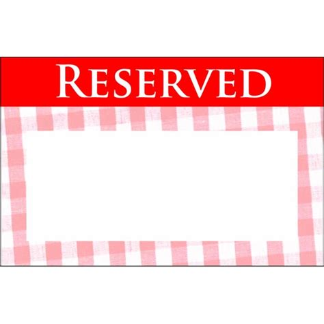 reserved table card template pictures to pin on pinterest